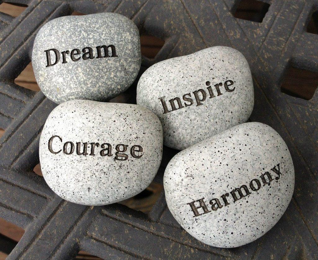 stones, dream, inspire